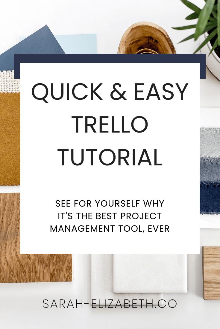 A Quick & Simple Trello Tutorial | Sarah Elizabeth